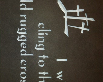 """Rugged Cross Wall Sign 15"""" or 18"""" (Free Shipping)"""