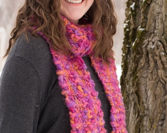 Hand dyed wool scarf