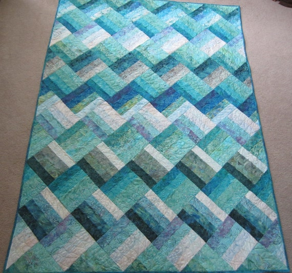 PDF Pattern Ocean Rail Fence Waves Twin And Queen Sized Quilt