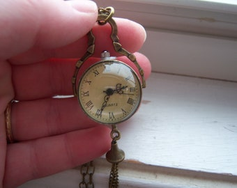 Steampunk Necklace - Pocket Watch Necklace - Free Gift With Purchase