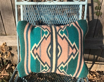 Gorgeous Southwestern Style Zapotec Wool Throw Pillow - Comes Fully Stuffed with Polyfil Insert!