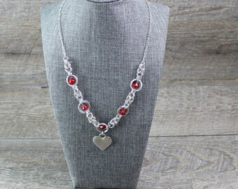 Sweetheart Chainmaille Necklace