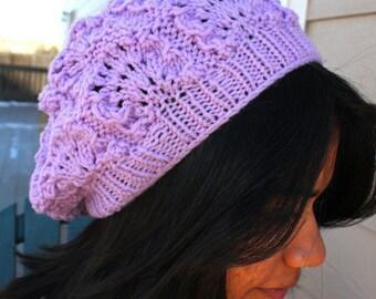 Lavender Knit Hat