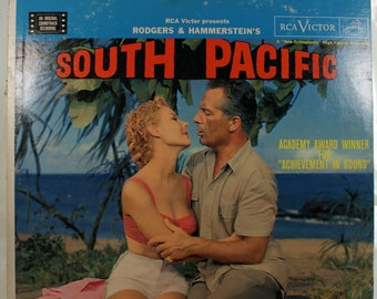 South Pacific Soundtrack Vinyl 33 Record RCA Victor LSO-1032 Rodgers and Hammerstein in Living Stereo