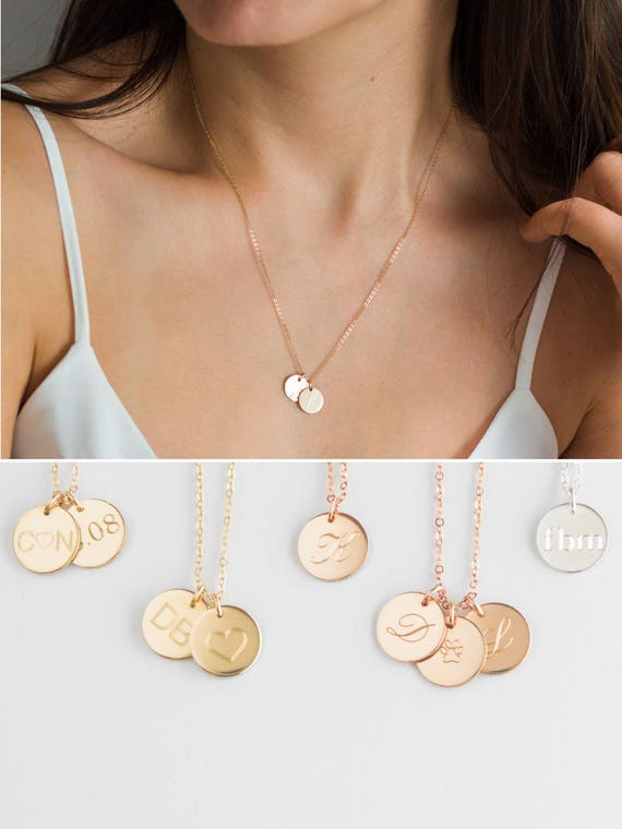 Two initial necklace double initial necklace 2 initial two initial necklace double initial necklace 2 initial necklace multiple initial necklace3 2 charm necklace3 initial necklacegold disc mozeypictures Images