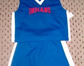 "Girls ""Indians"" Logo cheerleader uniform dress up costume"