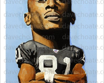 Tim Brown, Oakland/ Los Angeles Raiders Art Photo Print