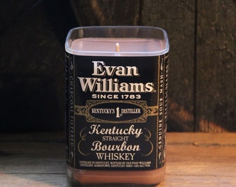 Evan Williams Bourbon Candle / Gift For Brother, Guy Gift, Gift For Boyfriend, Present For Grandpa, Gift For Boss, Father's Day Gift