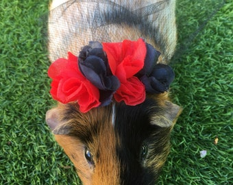 Day of the dead veil for bunny rabbits, guinea pigs, small pets