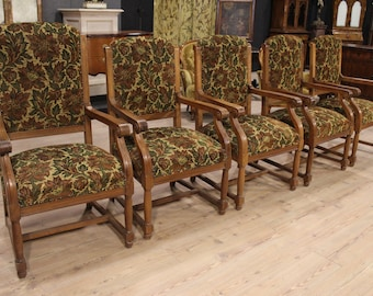 Northern Europe group of rustic armchairs from 20th century