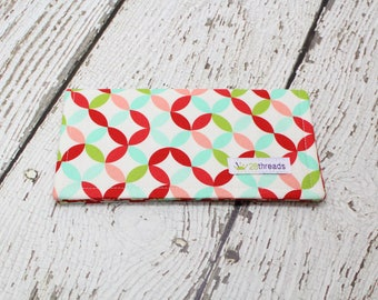 Checkbook Cover, fabric check cover, wallet, cash envelope, money holder, check book holder, simple wallet, coupon holder, purse organizer