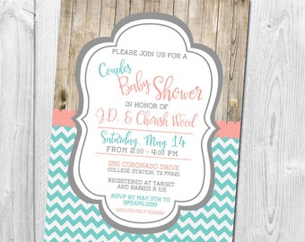 Rustic Baby Shower, Co-Ed Baby Shower, Couples Shower