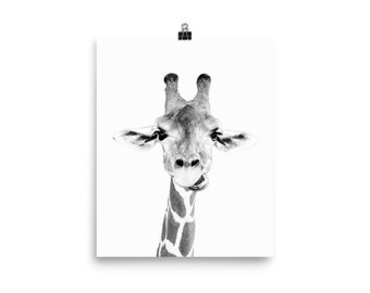 Giraffe Print, Posters, Wall Art, Black and White