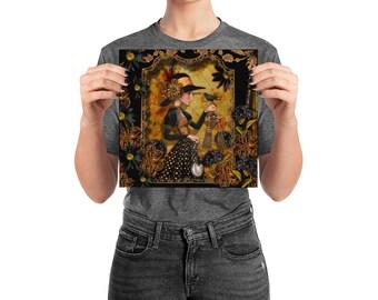 Poster, Portrait #69, Glow, wall art, digital collage, digital print, art print, wonderland, art, 18x18, 14x14, 10x10,