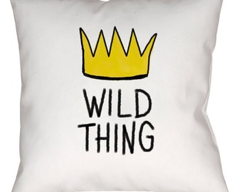 """Suede WILD THING Throw Pillow or Pillow Cover, 14"""" 16"""" or 18"""""""