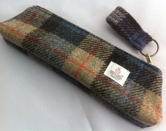 Harris tweed pencil case made in Scotland men women boys girls gift Scottish