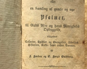 Really cool and old 1836 leather-bound German Psalmbook