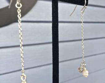 Freshwater Pearl/Glass Drop Earrings