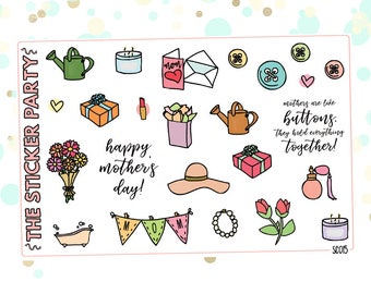 Mother's Day Planner Stickers | ERIN CONDREN