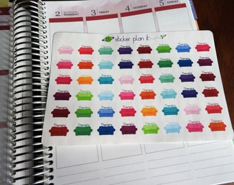 Therapy Couch Planner Stickers!!!! Set of 48, Perfect for the Erin Condren or Plum Paper Planner!