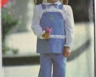 Vintage 1980s Tunic and Pants Sewing Pattern Butterick See & Sew 6949 80s Sewing Pattern Size 2-3