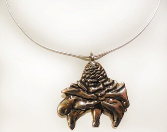 Torch Ginger Sterling Silver Necklace