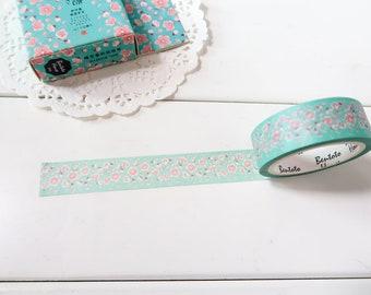 Pink Floral Washi Tape,  Sakura Washi tape,  Pretty Masking Tape (FL-162)