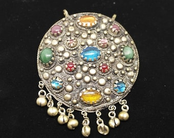 Vintage Costume Jewelry Pendant Silver-tone metal