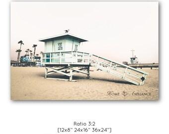 Beach photography, lifeguard house print, Venice Beach wall art, California decor, photography on canvas, lifeguard tower, summer wall art