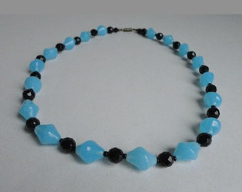 Blue/Black 60 Necklace // Beads