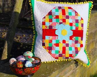 Mosaic Egg Quilt Pattern