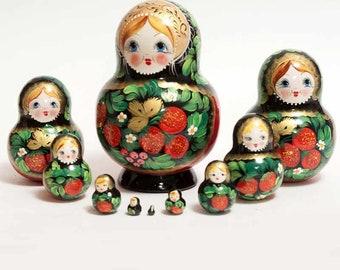 Russian Matryoshka Doll Strawberry