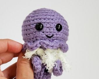 Mini Crochet Jellyfish, Jellyfish Stuffed Animal, Mini Amigurumi Jellyfish, Plush Jellyfish, Gift for Kids, Kids Birthday Gift