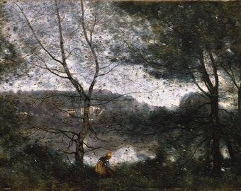 Camille Corot: Ville-d'Avray. Fine Art Print/Poster (5101)