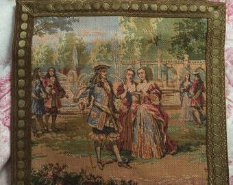French Country Aubusson Tapersty Wall Hanging