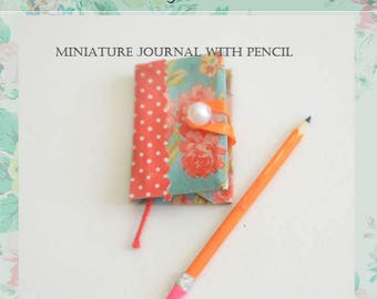 Miniature Journal with pencil