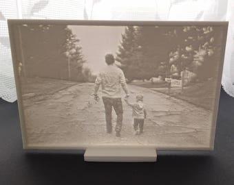 Custom made Lithophane photograph unique gift