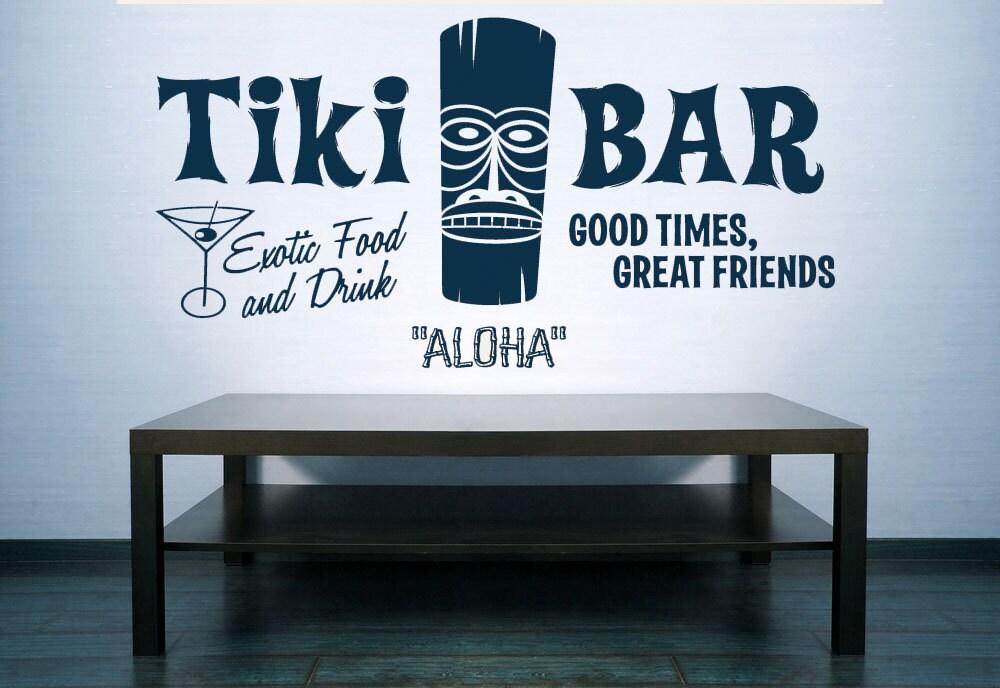 Tiki Bar Tiki Decor Tiki Bar Sign Aloha Hawaii Hawaiian