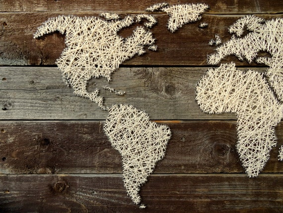 World map string art world map decal large world map world map string art world map decal large world map travel map wood wall art rustic home decor reclaimed wood fireplace gumiabroncs Gallery