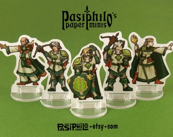 Greenhold Command 28mm Fantasy Gaming Paper Miniatures
