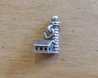 Vintage Sterling Silver Lighthouse Bracelet Charm