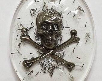 Resin Necklace Skull & Crossbones, Pirate