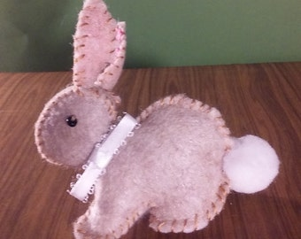 Cute Sand-Color Felt Bunny