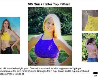 Crochet Tie Halter Top Pattern  105