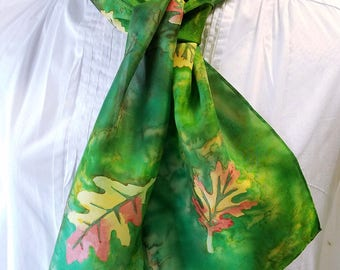 Mother's Day Gift! Silk Scarf, Hand painted Habotai Silk