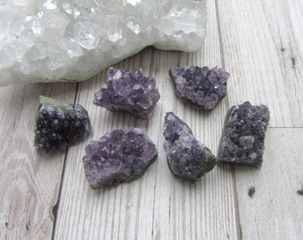 Small Dark Purple Amethyst Druzy Cluster - Gemstone Specimen - Natural Purple Crystal