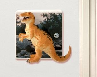 Dinosaur Light Switch - Children's Dinosaur Themed Bedroom - Dinosaur Bedroom Accessories - T Rex Gift - Dinosaur Gifts - Dinosaur Decor -