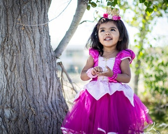 Sleeping Beauty dress, Princess Aurora dress, Princess dress, Aurora costume, satin dress, pink dress
