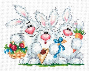Cross Stitch Kit Love to have fun (bunny)