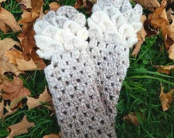 Fingerless Dragon Scale Gloves